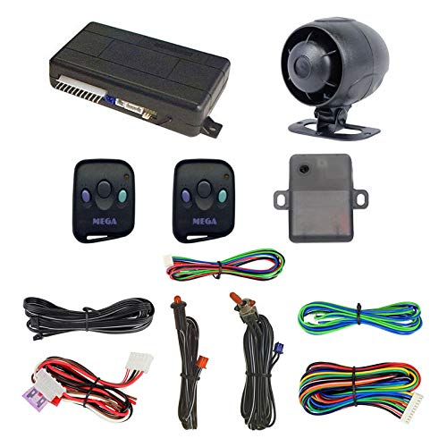 Megatronix MEGA3000 Car Alarm Remote Vehicle Security System With Keyless Entry