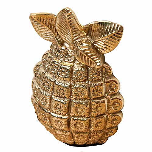 Casa Hardware Solid Brass Pineapple Wedge Doorstop - Polished - Polished Pineapple