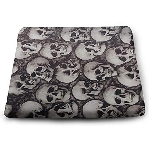Comfortable Seat Cushion Chair Pad Skulls Perfect Memory Foam Cushions Lighten The Bumps ()