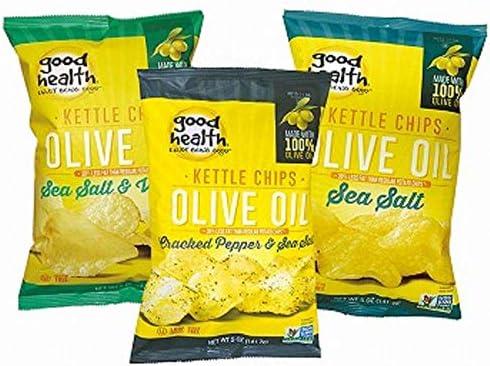 グッドヘルス(good health) オリーブオイルポテトチップス3種(3袋)セット【アメリカ おみやげ(お土産) お土産 輸入食品 スナック】