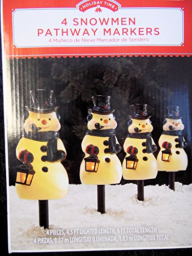 4-lighted-snowman-stakes-pathway-markers-christmas-holiday-lights-outdoor-decor
