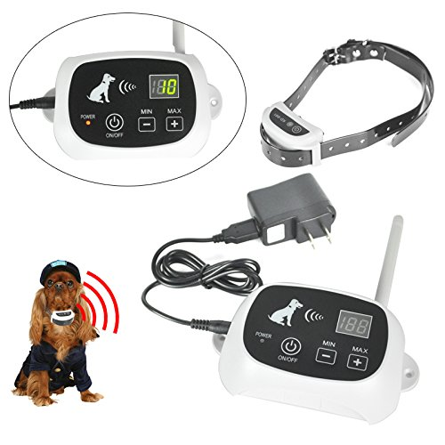 Waterproof Dog Fence Wireless Pet Containment system As Seen TV Wireless Dog Perimeter Fence Pet Collar With 500m Radius & Wireless Remote Transmitter For Wireless Containment Collar (LUXI BEAUTY) by LUXICOLLAR