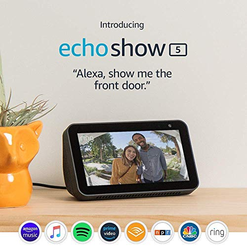 Echo Show 5 (Charcoal) with Wyze 1080p indoor Smart Home Camera