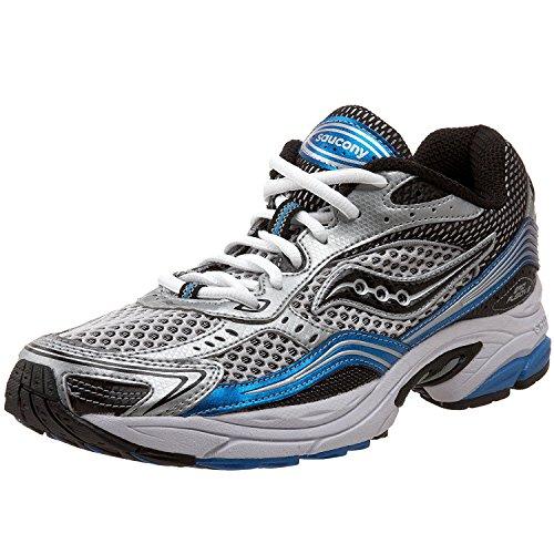 Saucony Mens Grid Fusion 3 Running Shoe, Silver/Royal/Black, 44 D(M) EU/9 D(M) UK