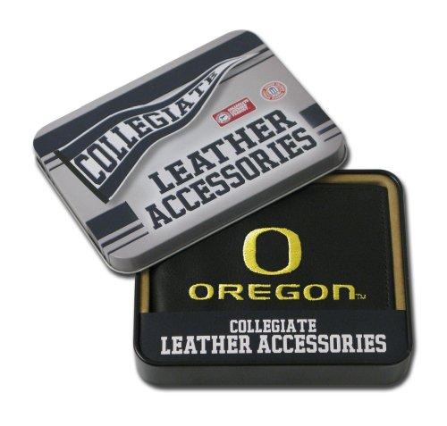 NCAA Oregon Ducks Embroidered Leather Billfold Wallet (Leather Embroidered Ducks)