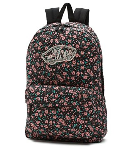 Floral Daydream (Vans Realm Backpack (Black Daydream Floral))