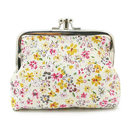 Cute Floral Buckle Coin Purses Vintage Pouch Kiss-lock Change Purse Wallets -