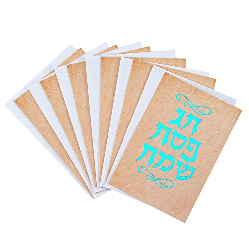(Hallmark Tree of Life Pack of Passover Cards, Hebrew Letters (6 Cards with Envelopes))