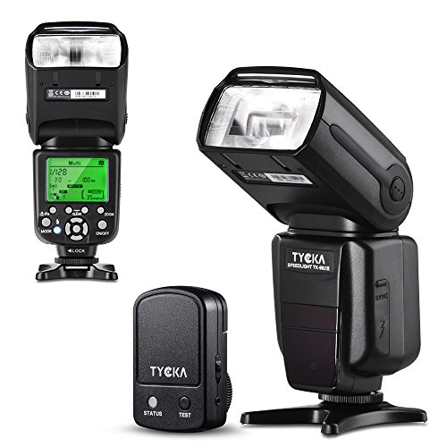 - Tycka Professional E-TTL Flash with 2.4G Wireless Trigger Remote for Canon, 58GN, 1/8000s High-Speed Synchronization, Rear Curtain Sync, Manual Auto Focus, for Wedding Portrait Studio Outdoors