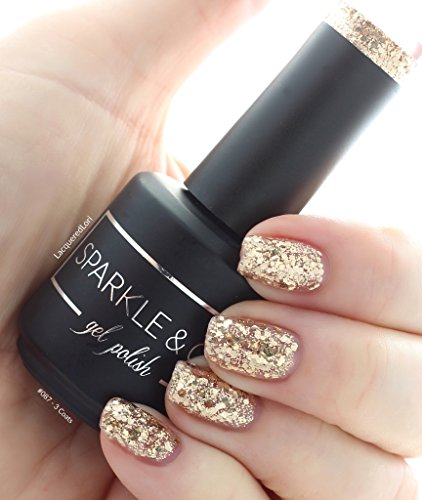 Sparkle & Co. Soak Off Gel Polish – 087: Gold Glitzy Spark