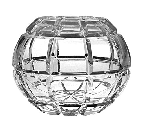 Barski European Hand Cut - Crystal Rose Bowl - Blossom Design ()