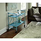 Quick and Easy Cosco Folding Serving Cart, Multiple Colors (Teal)