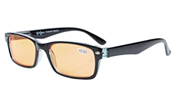 Eyekepper primavera bisagras UV proteccion,anti reflejante,Anti azul rayos,rasgu/ño resistente Lens naranja tenido lentes computadora ojogafas lectores
