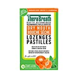 TheraBreath Dentist Recommended Dry Mouth Lozenges, Mandarin Mint Flavor, 72 Count