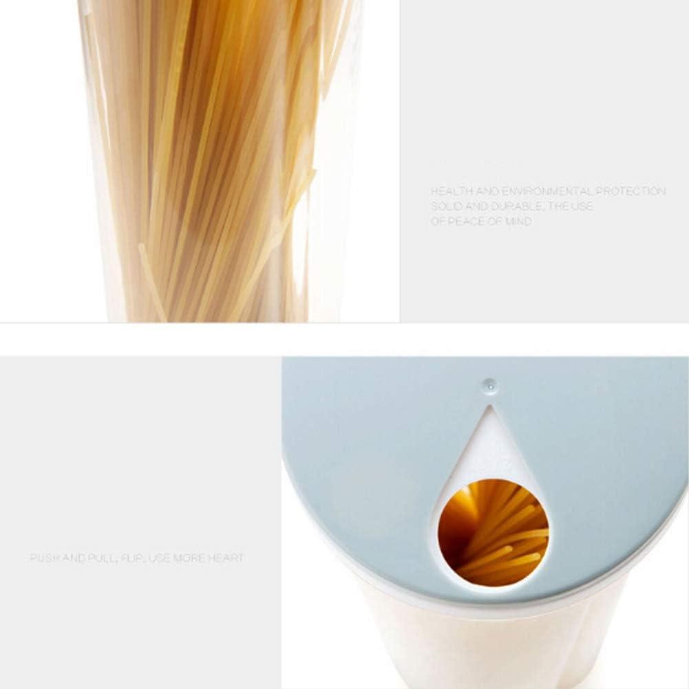 Flyes R/écipient en Plastique Aliments Nouilles de Cuisine bo/îte de Stockage de p/âtes Spaghettis Porte-Baguettes Multifonctions