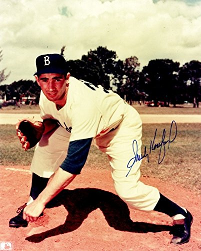 Sandy Koufax Signed - Autographed Brooklyn Dodgers - LA Dodgers 8x10 inch Photo - Guaranteed to pass PSA/DNA or JSA - 1955 World Series Champion + 1956 MVP and Cy Young Winner - 1955 World Series Mvp