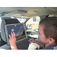TFY Car Headrest Mount Holder for iPad 4 / iPad 3 / iPad 2 – Kids Security Hands-Free Headrest Travel Bracket Stand for Road Trip - Provide Entertainment for Kids and Back Seat Passengers-Black
