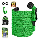 Garden Hose - 100 FT Expandable Water Hose - Lightweight Double Latex Core