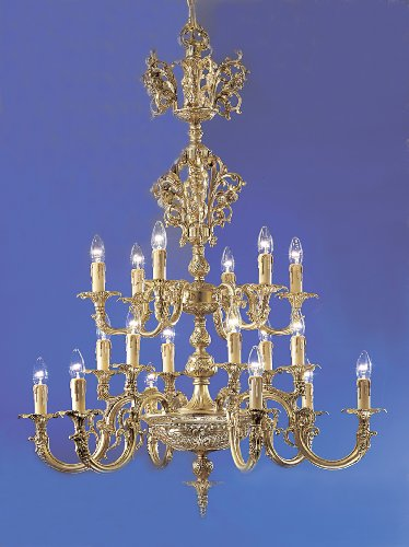 Classic Lighting 5718 SBB C Princeton, Crystal Cast Brass, Chandelier, 35