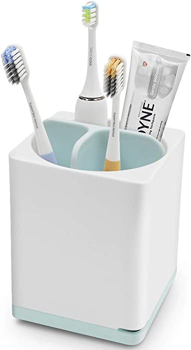 Luvan Toothbrush Holder Bathroom Electric Toothbrush and Toothpaste Organizer, Made of Food-Grade PP and ABS Plastic,BPA-Free,Versatile Storage,Detachable for Easy Cleaning