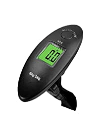 MeiLiio 40kg/100g 88Lb Mini Digital Hanging Scale, Electronic Luggage Scale LCD Display, Portable Travel Handheld Weighing Luggage Suitcase Bag Scal