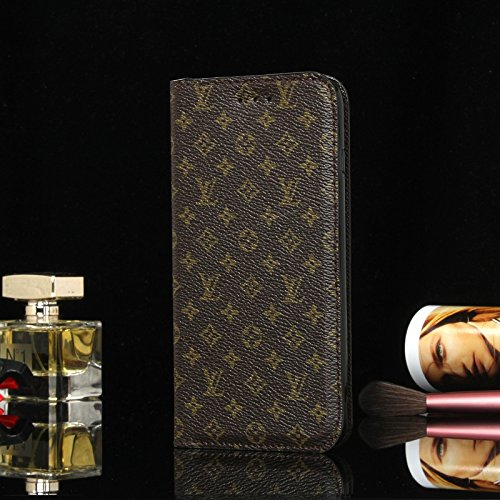 Gucci Iphone (calbeebee iPhoneX -US Fast Deliver Guarantee FBA- New Elegant Luxury PU Leather Wallet Style Flip Cover Case For Apple iPhone 10 iPhone X ONLY (iPhoneX SC Brown))