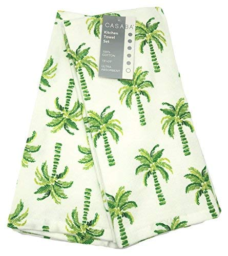 Casaba Tropical Palm Trees Kitchen Towel