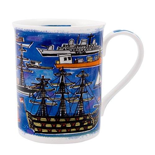 (Alison Gardiner Portsmouth range - Portsmouth Harbour Fine Bone China Mug)