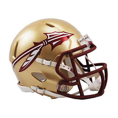 (Riddell NCAA Florida State Seminoles Speed Mini Helmet, Small, Gold)