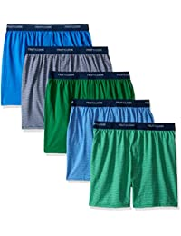 Fruit of the Loom boys Big Boys 5 Pack Knit Boxer