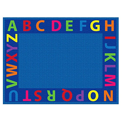 ECR4Kids Classroom A-Z Circle Time Educational Seating Rug f