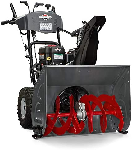 Briggs Stratton S1227 Standard Series 27-Inch Dual-Stage Snow Blower with Push Button Electric Start and Free Hand Control