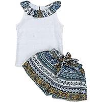 6b232e5f76e GBDRLL 2PCS Summer Toddler Kids Baby Girls Lovely Clothes Tops + Shorts  Pants Set …