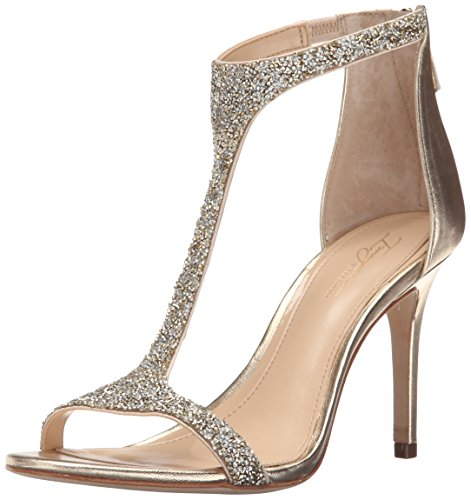 Imagine Vince Camuto Women's Im-Phoebe Dress Sandal, Crystal/Soft Gold, 9 M US by Imagine Vince Camuto