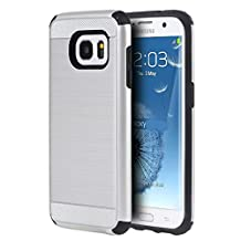 Samsung Galaxy Note 5 - Ispace [Shock Absorption] [Impact Resistant] (Alpha Series) Hybrid Dual Layer Protector Case Cover for Samsung Galaxy Note 5 (Silver)