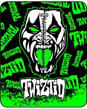 """Twiztid """"Split Face"""" - Officially Licensed Medium Weight Queen Size Faux Fur Blanket"""
