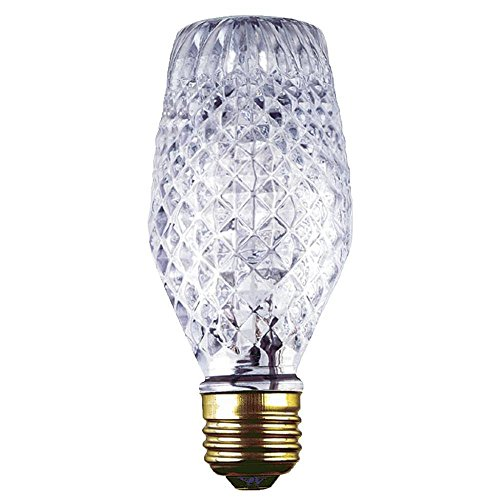 - Westinghouse Lighting 0501800 43 Watt SL19 Halogen Cut Glass Light Bulb with Medium Base