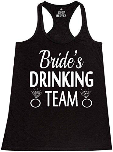 Shop4Ever Bride's Drinking Team Women's Racerback Tank Top Wedding Tank Tops Small -