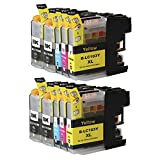 Toner Clinic TC-LC103 10PK 4 Black 2 Cyan 2 Magenta 2 Yellow Compatible Inkjet Cartridge for LC-101 LC-103 LC-103 XL LC-103BK, LC-103C, LC-103M, LC-103Y Compatible - 10 Pack Compatible Ink Cartridge