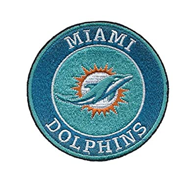 Miami Dolphins Iron ON Patch 3 1/2 INCH