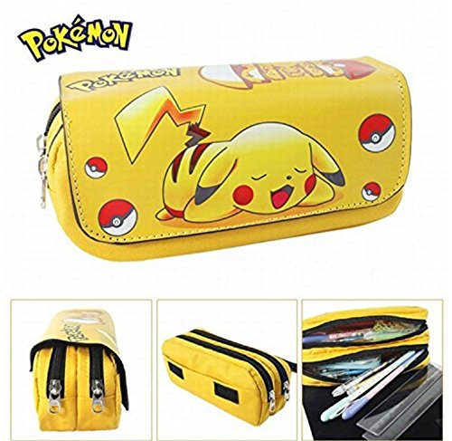 Kids Craze UK Pikachu Pokemon astuccio due scomparti KTRADING