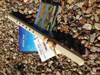 Windpony Key of G Unfinished Poplar Native American Style Flute, Book & 2 Cd Starter Set