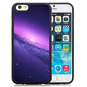 New Beautiful Custom Designed Cover Case For iPhone 6 4.7 Inch TPU With Purple Galaxy Phone Case