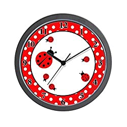Ladybugs - Red / White Dot Wall Clock [Kitchen] [Kitchen]