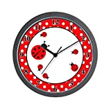 Ladybugs – Red / White Dot Wall Clock [Kitchen] [Kitchen]