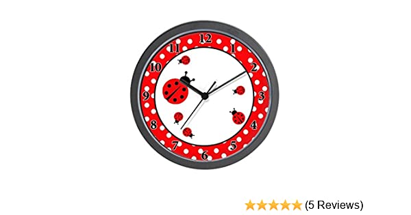 Amazon.com: CafePress - Ladybugs Wall Clock - Red/White Dot - Unique Decorative 10