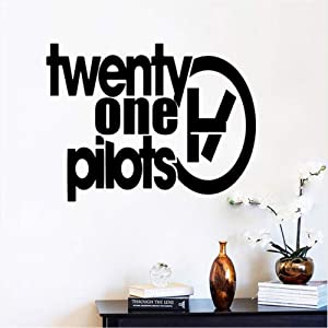 Pretty Quotes Twenty One Pilots Removable PVC Wall Stickers for Living Room Bedroom Decor Vinyl Art Decals Poster Size 30 39Cm