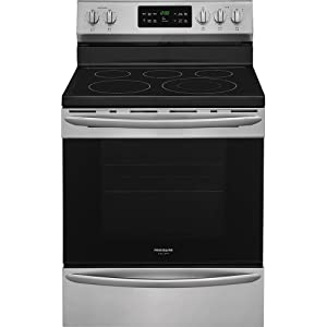 "Electric Oven Range, Stainless Steel, 46-5/8""H x 29-7/8""W x 28-13/32"" Depth"