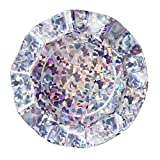 We Love Sundays Holographic Ruffled Paper Plates | 10-Pack | Great for Iridescent Silver & Mermaid Themed Parties