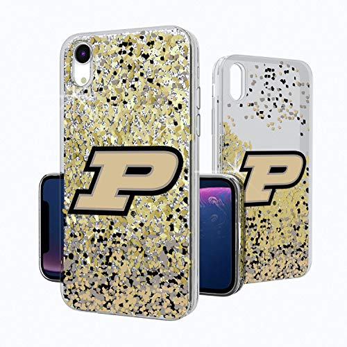(Keyscaper KGLGXR-0PUR-FETTI1 Purdue Boilermakers iPhone XR Glitter Case with Confetti Design)